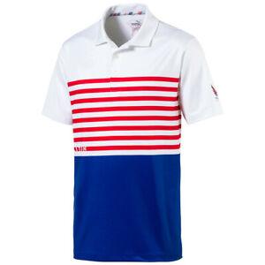 4289f568 New Puma Volition CK 6 Flag Golf Polo Shirt Surf The Web Choose-Size ...