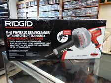 Ridgid K 45 Powered Drain Cleaner Withautofeed Technologybrand Newfree Shipping