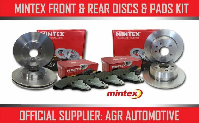 Front Rear Brake Discs Black Dimpled Grooved Mintex Pads Peugeot 807 2.2 Hdi 02