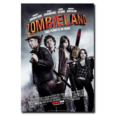 "Zombieland Movie Silk Fabric Poster 11/""x17/""  Zombie Horror"