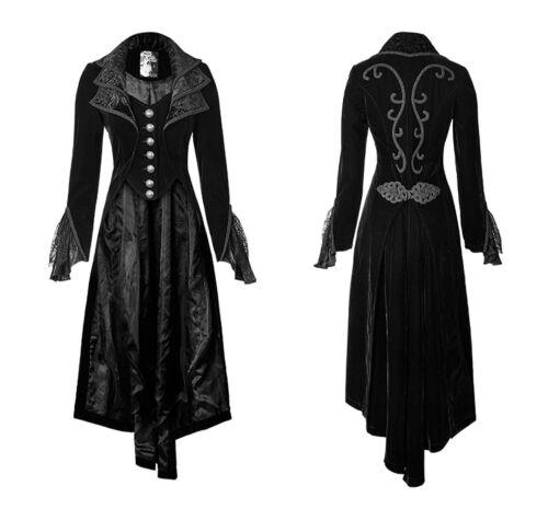 Woman New Coat Dress Gothic cosplay Lolita Long Jacket steampunk Cloak Victorian