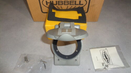 HUBBELL WEATHERPROOF LIFT COVER PLATE GRAY LEXAN  WP2 FOR #2 AND #3 FLANGED I...