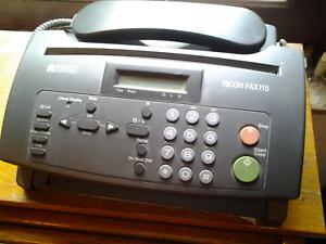 Telephone-fax-ricoh-115-stock-rouleaux-papier-thermique