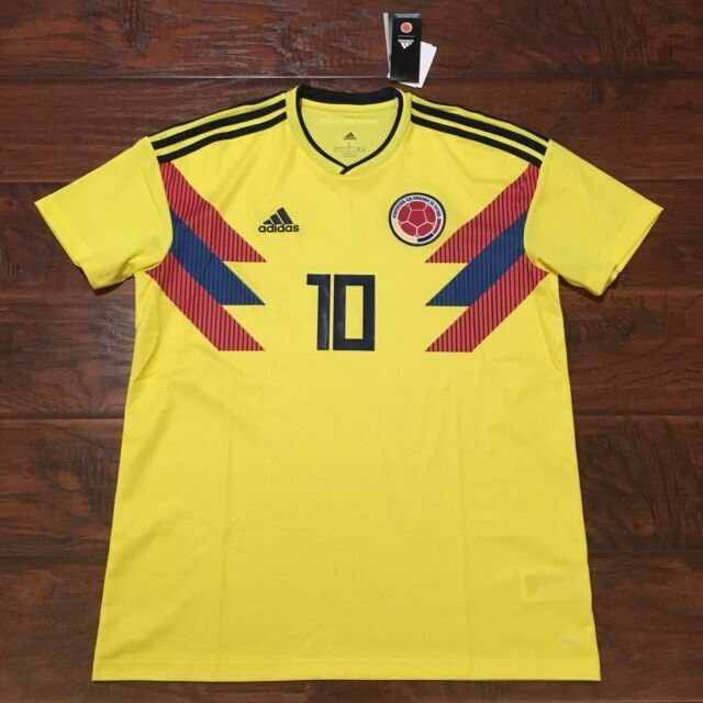 adidas Colombia 2018 Home Jersey Soccer Football Yellow CW1526 for ...