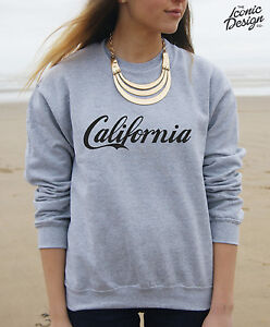 Image Is Loading California Sweater Top Cali Summer Surf Swag Beach