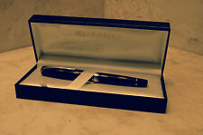Waterman Charleston Ebony Black and Silver Fountain Pen, 18K, Fine Point Nib