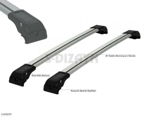 AUDI Q5 2008-2015 ALUMINUM TOP ROOF RACK CROSS BAR CROSS RAILS LOCKABLE 2PC
