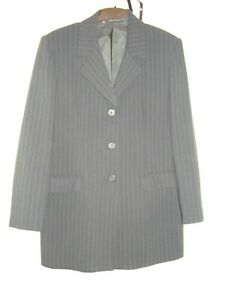 Ladies-Marks-amp-Spencer-pin-stripe-single-breasted-jacket-size-16