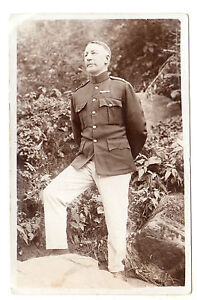 Soldier-in-Army-Light-Trousers-RP-Postcard-c1910