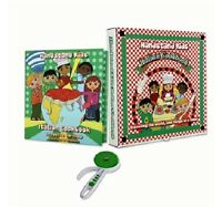 Handstand Kids Italian Cookbook Kit W/ Pizza Cutter & Book - Great Gift Idea