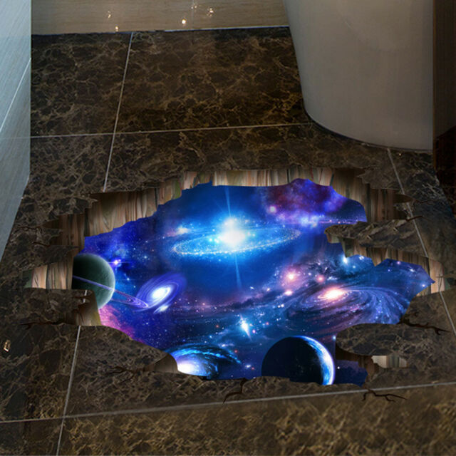 Outer Space 3D Wall Decal Removable Vinyl Sticker Mural Wall Art Decor