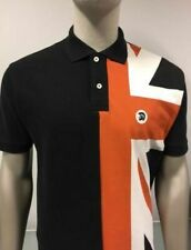 Trojan Records Blue Union Flag Sleeve Pique Polo Shirt