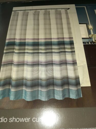 """Shower Curtain KAS INDIO  72/""""x 72 NEW colorful"""