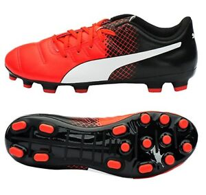 037f8cf8a PUMA Men evo-POWER 4.3 AG Cleats Black Red Soccer Football Shoes ...