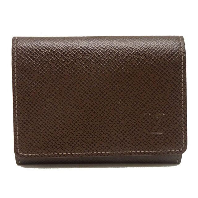 Auth LOUIS VUITTON Pass Case Card Holder Enveloppe Cartes Visite M30928 042680