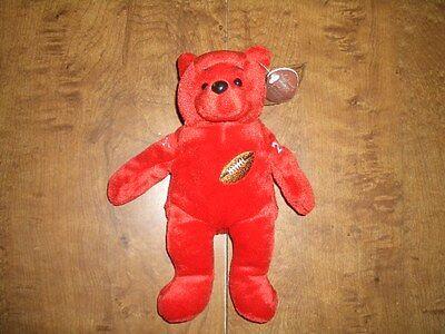 New W/tags #'d 9361/10,000 Contemplative Joe Montana Different-limited Plush Beenie Bear