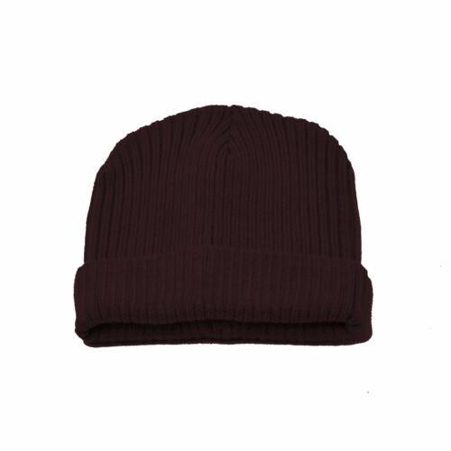 New Men Women Beanie Cap Hat Plain Knit Skull Cap Cuff Warm Winter Blank Ski Hat