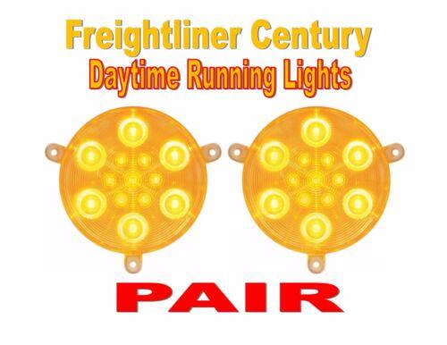 PAIR Freightliner Century Daytime Running Lights 2005+ Amber LED//Clear Lens