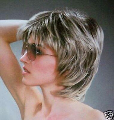 656 New Fashion short Silver Grey wig