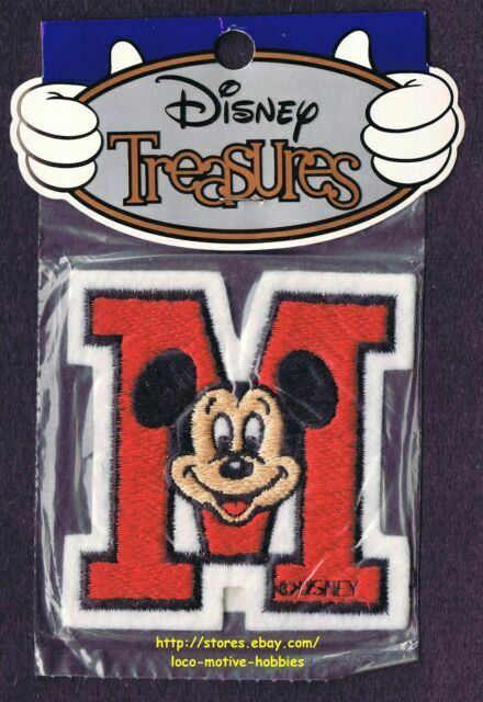 LMH PATCH Badge  MICKEY MOUSE  Ears Head Face M  WALT DISNEY Productions World