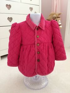 5a7b3ad3d RALPH LAUREN POLO pink girls Quilted Diamond Barn Coat Jacket 2T 18 ...