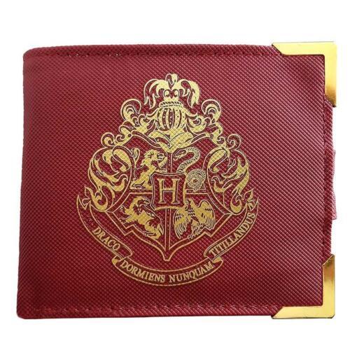 Harry Potter Premium Geldbeutel Hogwarts Wappen - Geldbörse mit Verschluss rot