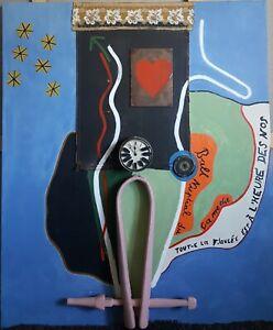 Belle Peinture Dada Surréalisme Contemporain -desnos Ball Lissage De La Circulation Et Des Douleurs D'ArrêT