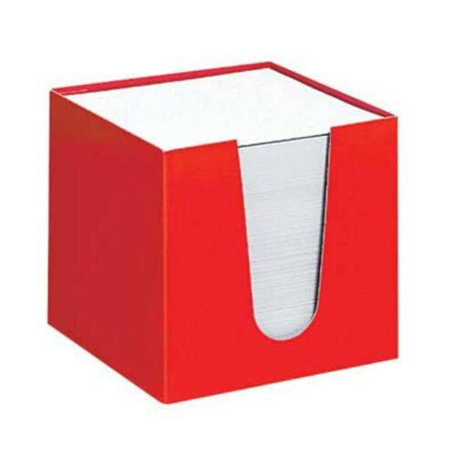 folia Zettelbox Zettelkasten Notizwürfel Notizklotz Zettelklotz 700Blatt rot!