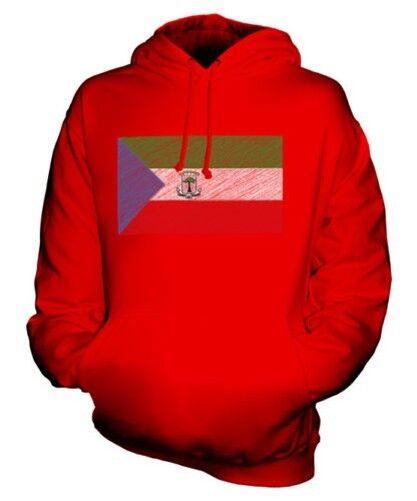 La Guinée Équatoriale Griffonnage Drapeau Sweat à Capuche Unisexe Haut Cadeau