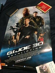 G I Joe Retaliation 2013 Original Film Poster Science Fiction Action Ebay