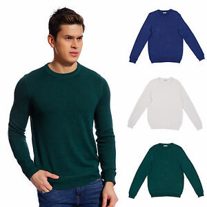 Copperside-Mens-100-Cotton-Crew-Neck-Sweater-Polo-Shirt-Pullover-Sport