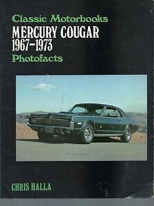ND-001 Chris Halla Mercury Cougar Photofacts 1967-73 Classic Motorbooks Vintag