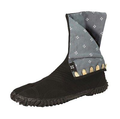 "Japanese Tabi Boots Ninja Shoes MARUGO /""MANNEN/"" Black 25 cm"