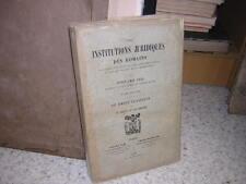 1902.institutions juridiques des romains / CUQ.T2.droit