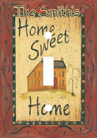 Personalized Primitive Home Sweet Home Country Light Switch Plate Cover