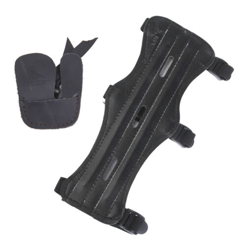 Archery Arm Guard with Finger Guard Protector Shooting Hunting Accessories