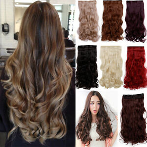 Thick-One-Piece-Strip-Clip-in-Koko-Hair-Extension-Straight-Curly-Heat-Resistant