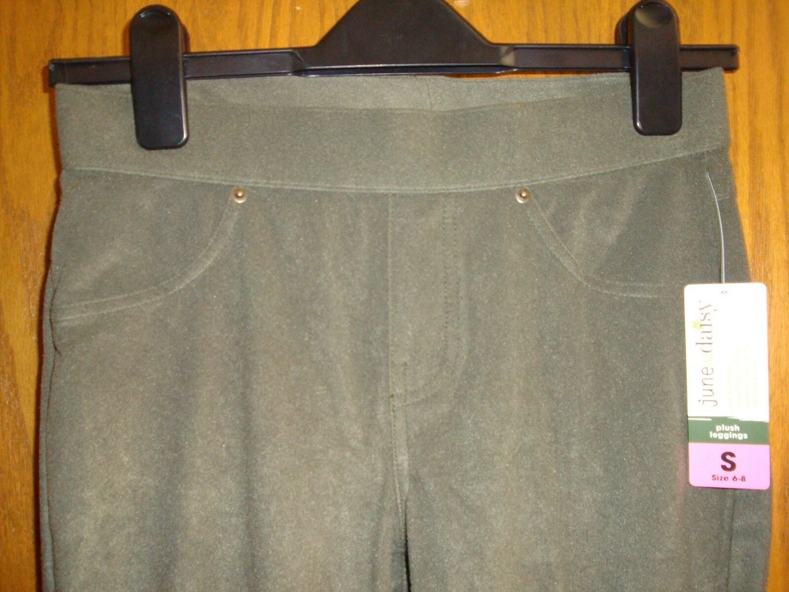 June /& Daisy Plush Legging Color Olive Size S4-6 New Jeans Style With Tags