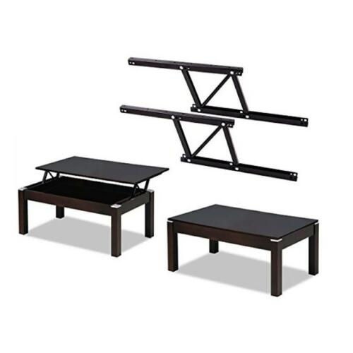 2x Metal Lift up Coffee Table Desk Hinge Furniture Spring Stand Rack Bracket