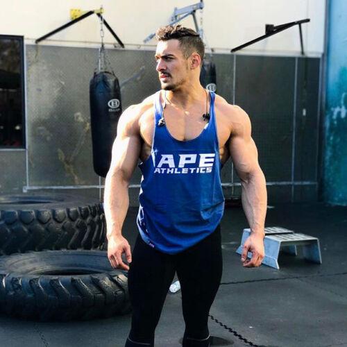 Men Stringer Fitness Singlet Workout Man Undershirt Bodybuilding Tank Tops