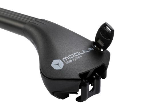 MODULA Case System Oval Bar black Universal Dachträgersystem integrierte Reling