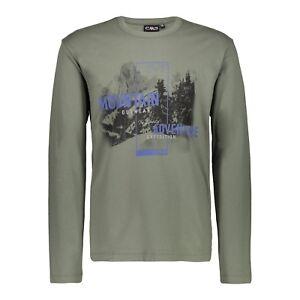 Fotografica Lunghe Cmp Maniche A Man Maglia Stampa Jersey Stampato T Green shirt qz7z1wt