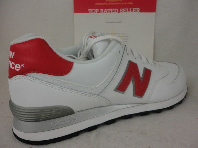 New Balance 574, NB574ALR, Grey, White / Red / Grey, NB574ALR, Classics, Pelle, Size 11.5 d828fa