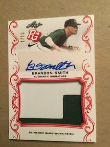 Details about 2018 Leaf Perfect Game BRANDON SMITH Rookie Auto Patch /15  Georgia
