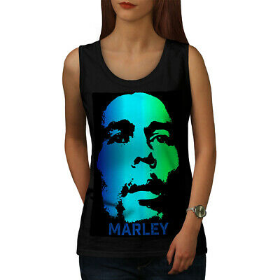 100/% cotton.REGGAE,GANJA Vintage Bob Marley print women/'s//ladies vest top//dress