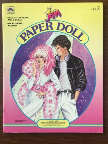 JEM Paper Doll Book  1986 Vintage Golden Books