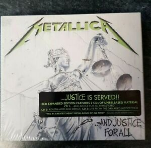 Metallica-And-Justice-For-All-3Cd-Expanded-deluxe-Edition-CD-NEW