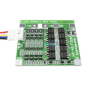 4S Cell Balance 30A 14.8V Li-ion Lithium 18650 Battery BMS PCB Protection Board