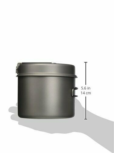 Toaks Titan 1600ml Topf mit Pfanne Kochen Kochgeschirr Draußen Camping Wandern