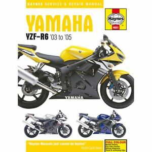 manual haynes for 2003 yamaha yzf r6 5sl1 ebay rh ebay co uk 2012 yamaha r6 service manual 2015 Yamaha R6